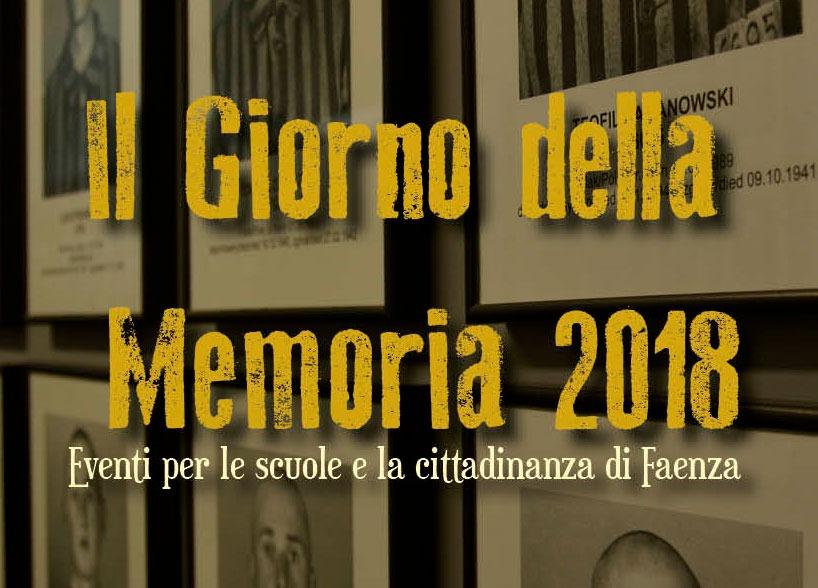 Giornate della Memoria 2018 a Faenza